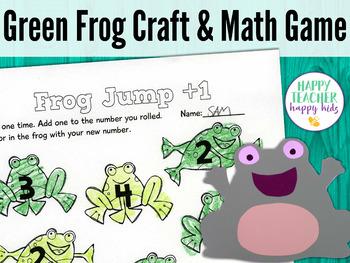 Green Frog Craft & Math Game: Pre-K, Transitional Kinder, & Kinder