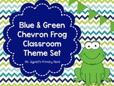 Frog Classroom Decor Kit {with Blue and Green Chevron accents}