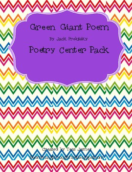 Green Giant by Jack Prelutsky  Poetry Center Pack