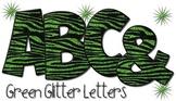 Tiger Print Alphabet - Green Glitter