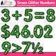 Green Glitter Math Numbers Clip Art {Great for Classroom D