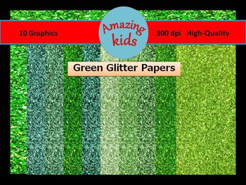 Green Glitter Papers *FREE*