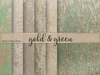 Green & Gold Textures