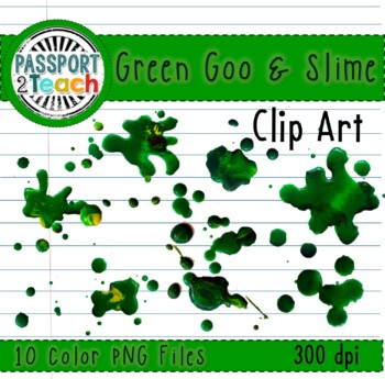 Green Goo and Slime Clip Art for Commercial Use
