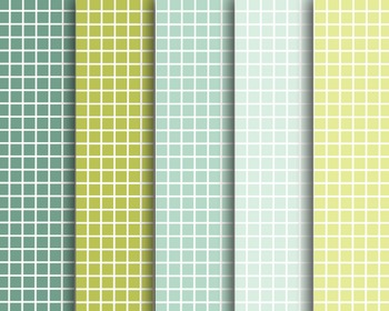 Green Graph Papers, Digital Papers, Green Graph Paper Set #137