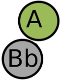 Green, Gray, Purple Word Wall Letters