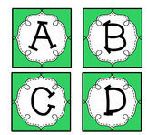 Green Guided Reading Labels / Word Wall Letters aa-Z
