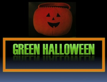Science - Green Halloween Activity - Elementary - Environmental Science