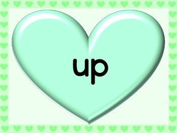 Green Heart Fry List 3 From 1st 100 Sight Word Posters and Flashcards