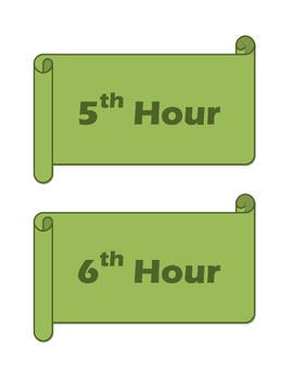 Green Hour Labels