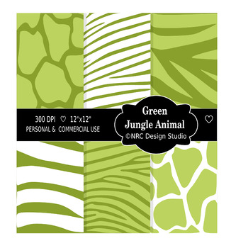 Green Jungle Animal Paper Pack
