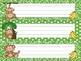 Green Jungle Monkeys Name Tags / Desk Plates
