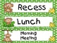 Green Jungle Monkeys Pocket Chart Schedule Cards
