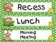 Green Jungle Monkeys Pocket Chart Schedule Cards