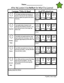 """Green Kit """"I Can Reflect"""" Worksheets Levels A-B Lessons 1-30"""