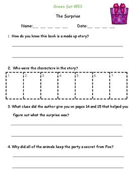 Green LLI Comprehension Questions (E)