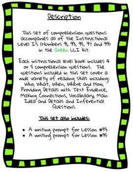 Green LLI Comprehension Questions (I)