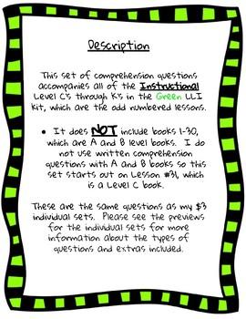 Green LLI Questions