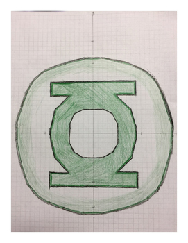 Green Lantern Coordinate Drawing