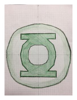 Green Lantern Coordinate Drawing