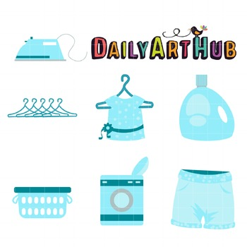 Green Laundry Clip Art - Great for Art Class Projects!