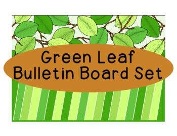 Green Leaf Bulletin Board Border Printable Full Color PDF