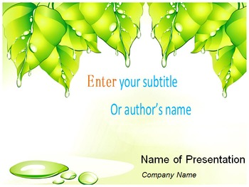 Green Leaf PowerPoint Template