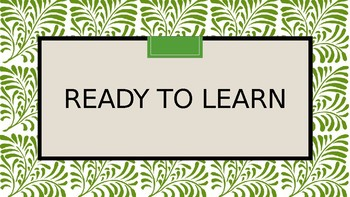 Green Leaf design- Classroom Management Clip System
