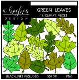 Green Leaves Clipart {A Hughes Design}