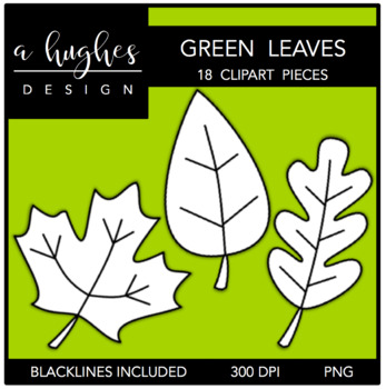 Green Leaves Clipart {A Hughes Design}