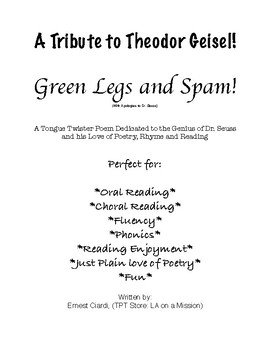 Green Legs and Spam! (With Apologies to Dr. Seuss)