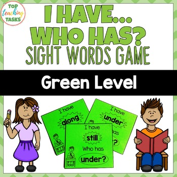 New Zealand Sight Words - Green Level Sight Word Game - I have Who Has