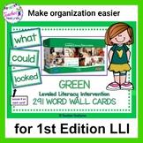 Leveled Literacy Intervention | Word Cards | LLI GREEN (1st Edition)