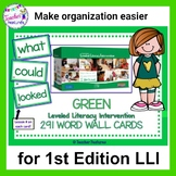 LLI Leveled Literacy Intervention Word Cards: Green