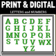 Green Marquee Bulletin Board Display Letters