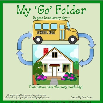 School to Home Travel Folder ~ Green Means 'Go!'