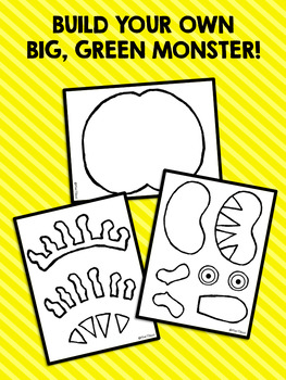 Green Monster: Build-A-Monster Black and White