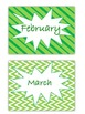 Green Monthly Headings