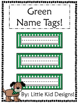Green Name Tags - Printable Name Tags