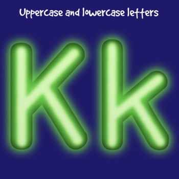 Green Neon Lights Clip Art Alphabet Letters & Frames