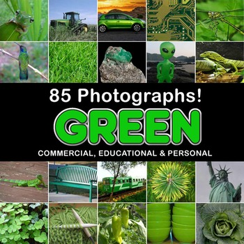 Photos Photographs GREEN OBJECTS clip art