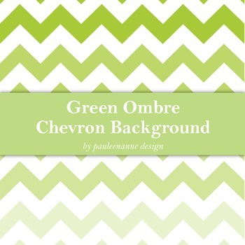 Green Ombre Chevron Background