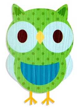 Green Owl Art