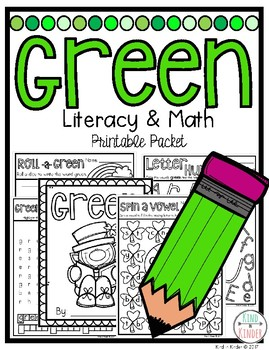 Green Math and Literacy Packet Print and Go!