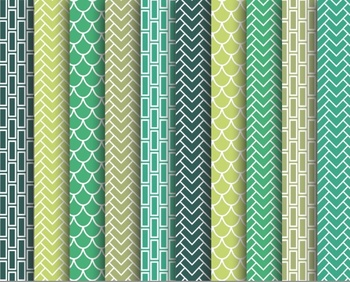 Green Papers for St. Patrick's Day { Digital Papers }