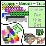 Green Pastel Borders Trim Corners *Create Your Own Dream Classroom/Daycare*