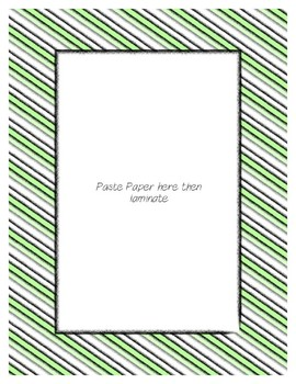 Green Pastel Poster Frames * Create Your Own Dream Classroom / Daycare *