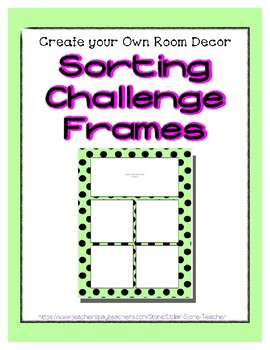 Green Pastel Sorting Mat Frames * Create Your Own Dream Classroom Daycare