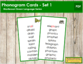 Green: Phonogram Cards - Set 1