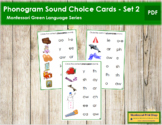 Green: Phonogram Sound Choice Cards - Set #2